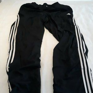 Adidas Running Pants Black With White stripes 32 3